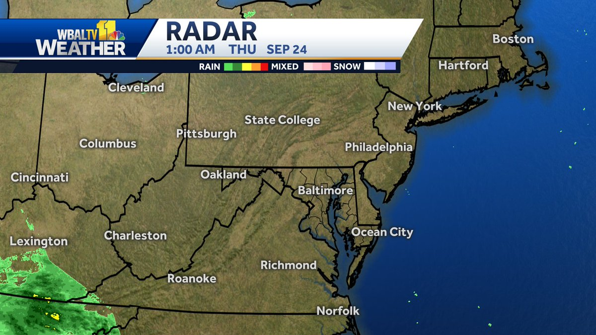 Here's a look at the Mid-Atlantic Radar map. #mdwx https://t.co/QY35tX61sE https://t.co/tmEbyvtjew