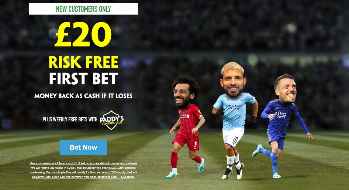 Paddy Power the most distinctive consumer brands in Europe  New Customers Only Place your FIRST bet on any Sportsbook market & if it loses Get a refund in CASH. Max £20  £20 Risk-FREE Bet Paid Back In Cash If u Lose https://t.co/Dzr1qIQog7  18+ T&Cs Apply #PremierLeague #Bet▫️0 https://t.co/LnWbmqd7Cr