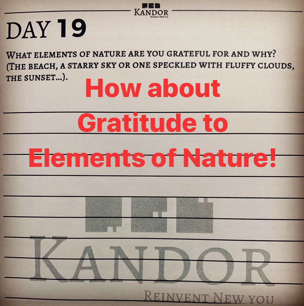 Gratitude Day 19: Did u think about elements of Nature. Being Thankful is the least we can do. #grateful #gratitude #thankyou #thankful #motivation #leadership #inspiration #entrepreneurship #student #growth #nature #kandor #tree #ocean #clouds #pureair #sun #sunset #sunrise https://t.co/vpmMMBBPKm