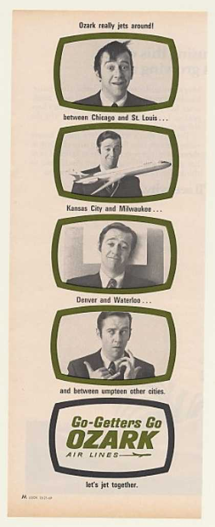 Ozark Air Lines ad from 1969 with @georgecarlin #VintageAds #Vintage #Nostalgia #Airlines #Airplanes #marketing https://t.co/6VSIab1FdZ