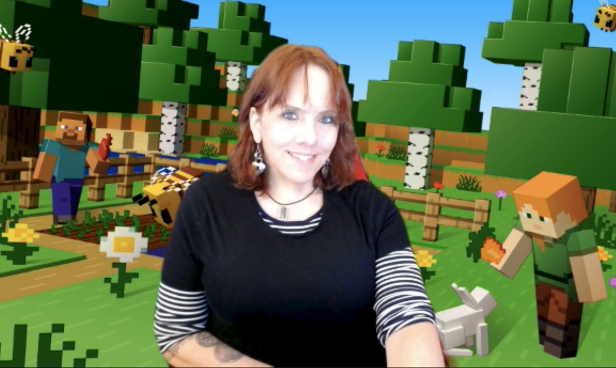 Early morning meeting (video) I found a Minecraft background. That made my day. #trans #selfie #mtf #transgender #zoomlife https://t.co/MoWCzdzPiy