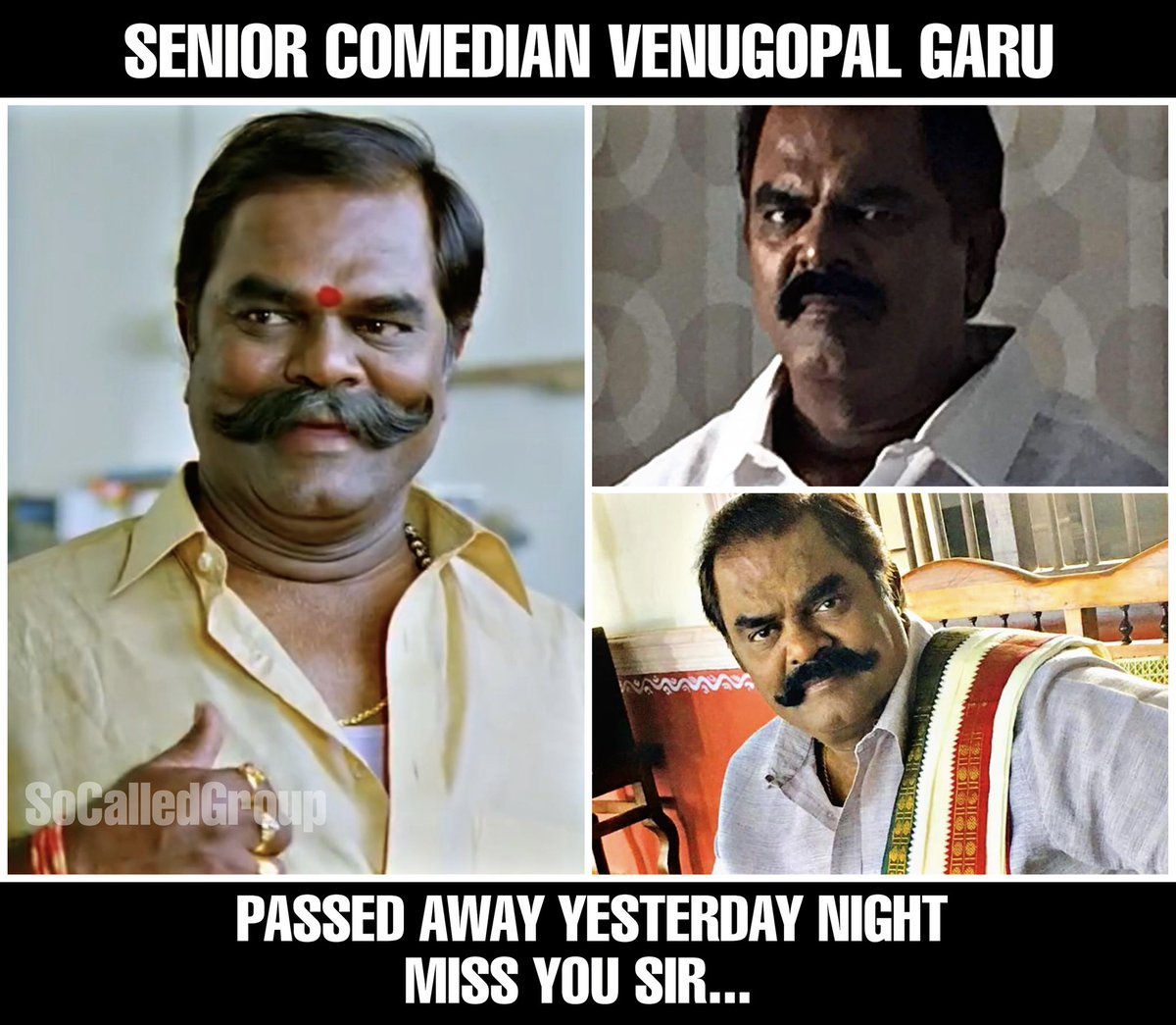 Miss you sir..!! Rip #Venugopal garu https://t.co/eVwx8RDL2J