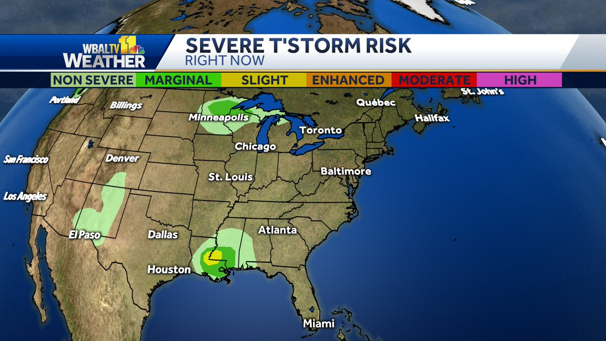Here is the latest severe weather outlook from the Storm Prediction Center. #mdwx https://t.co/QY35tX61sE https://t.co/zy3NfjFQYP