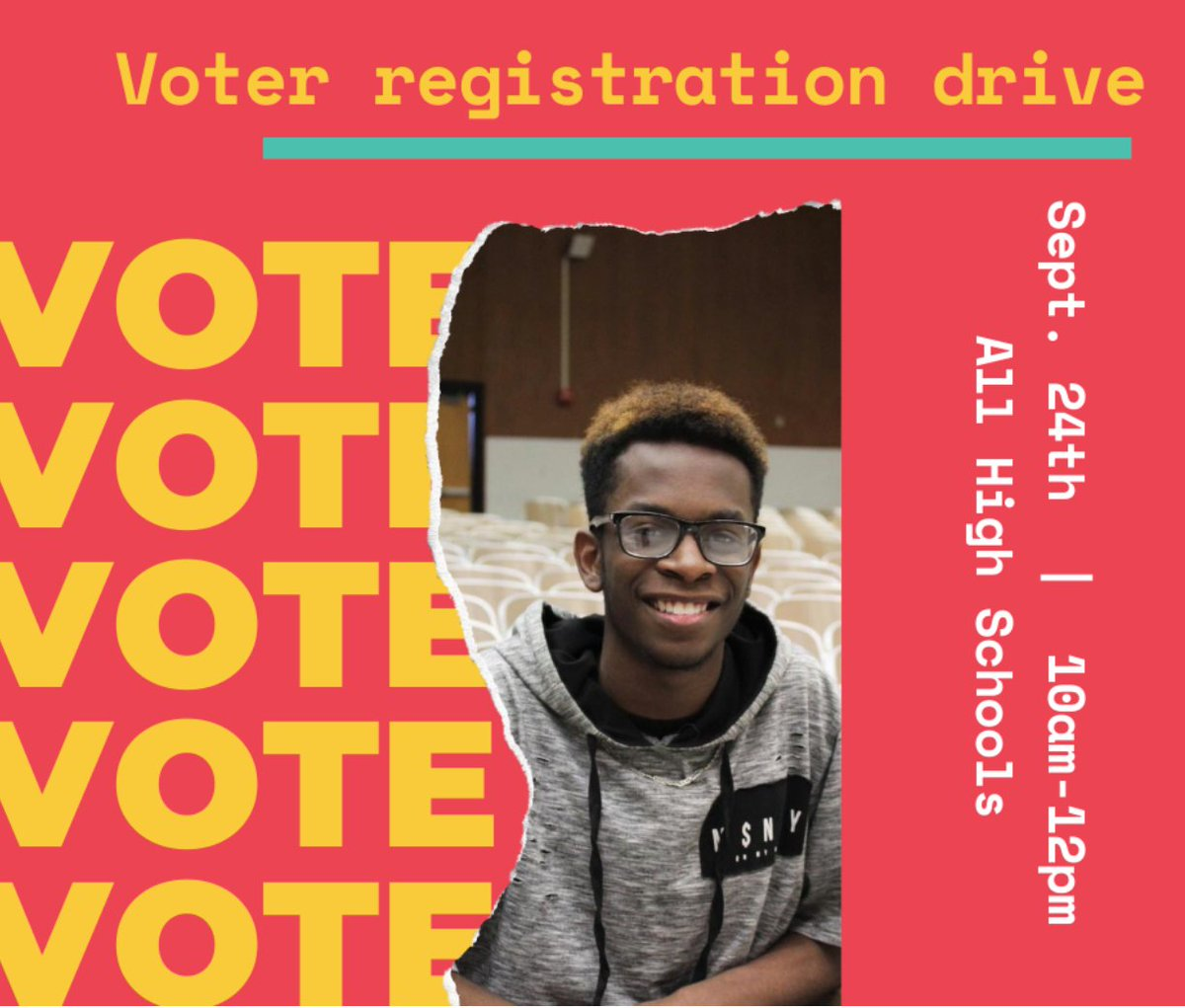 From 10 AM to 12 PM tomorrow, you can register vote at every #OKCPS high school! Visit one of the outdoor voter registration booths hosted by @gencitizen!  Thanks to Generation Citizen & @LWVOklahoma for getting OKCPS registered and ready to vote on Nov. 3!  #OKCPSVotes https://t.co/H68AdkEFRG