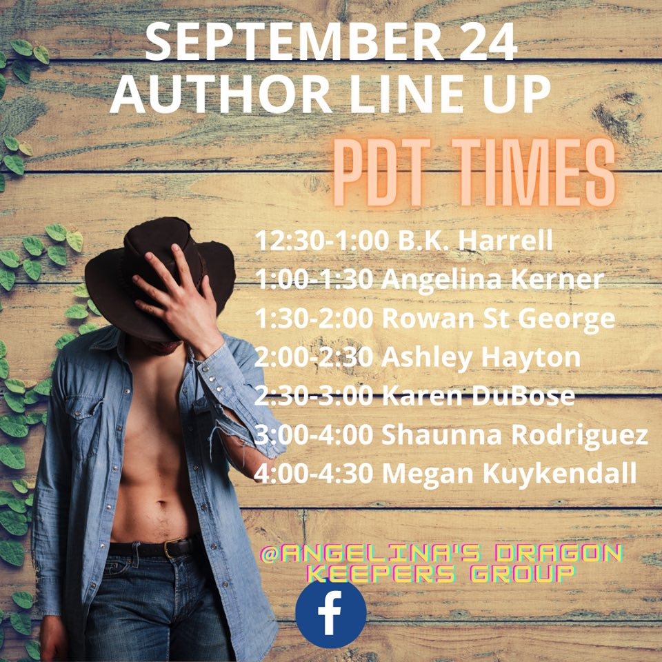 Join us on 24th for a Birthday bash of @AuthorShaunnaR  at https://t.co/I6VE1W6Ahz… @bkharrellauthor  @KernerAngelina  @RowanStGeorge1  Ashley Hayton @AuthorKDuBose  @mckplk and it's book release for Southern Charm!!! Come party! #giveaways #contest #giftcards https://t.co/H8WkpeZZIw