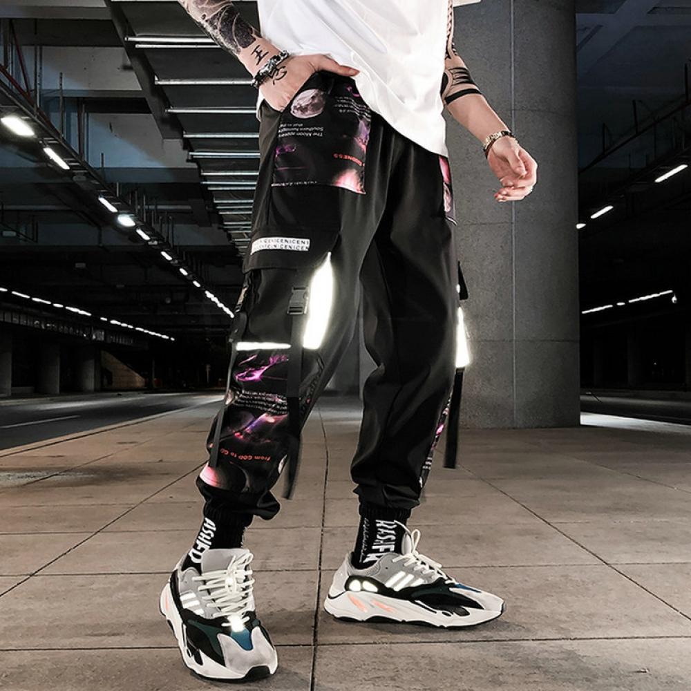 #house #style #art Streetwear Hip Hop Cargo Pants Patchwork https://t.co/u2pKxnoBru