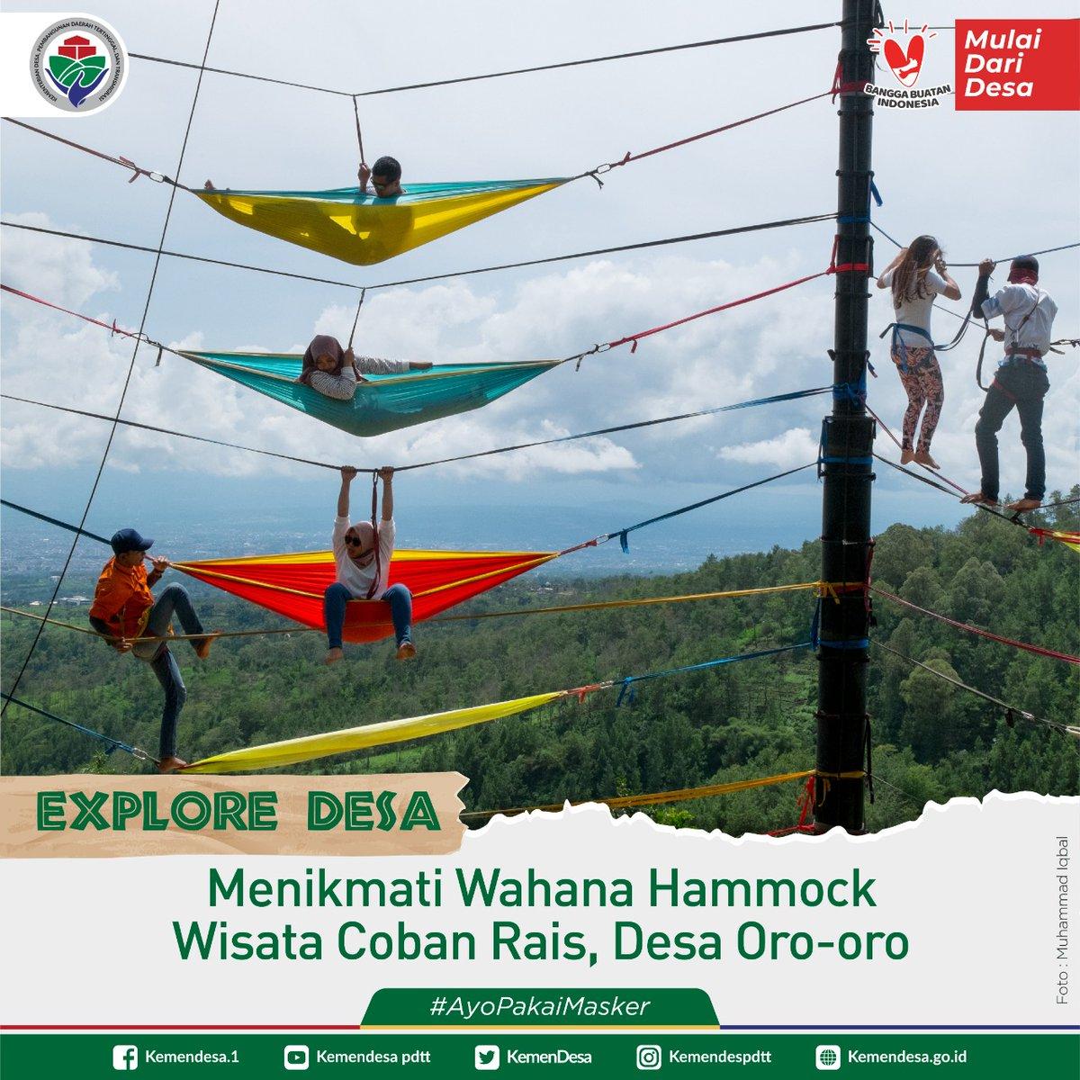 Menikmati wahana hammock di Wisata Coban Rais, Desa Oro Oro Ombo, Batu, Jawa Timur.  Wisata Coban Rais pada 2017 lalu meraih Anugerah Wisata Jawa Timur 2017.  *foto diambil sebelum pandemi covid-19*  #ExploreDesa #DesaBisa #MulaiDariDesa #DesaMajuIndonesiaMaju #KemendesPDTT https://t.co/mptDABFu7E
