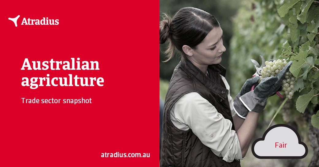 Credit risk for the Australian agricultural industry is average. A further deterioration of Australia's relationship with China (with more import bans and tariffs) remains a downside risk. Learn more https://t.co/Ac0QOKuUWf   #Austrade #agriculture #creditinsurance #creditcontrol https://t.co/WjXcudEHqm