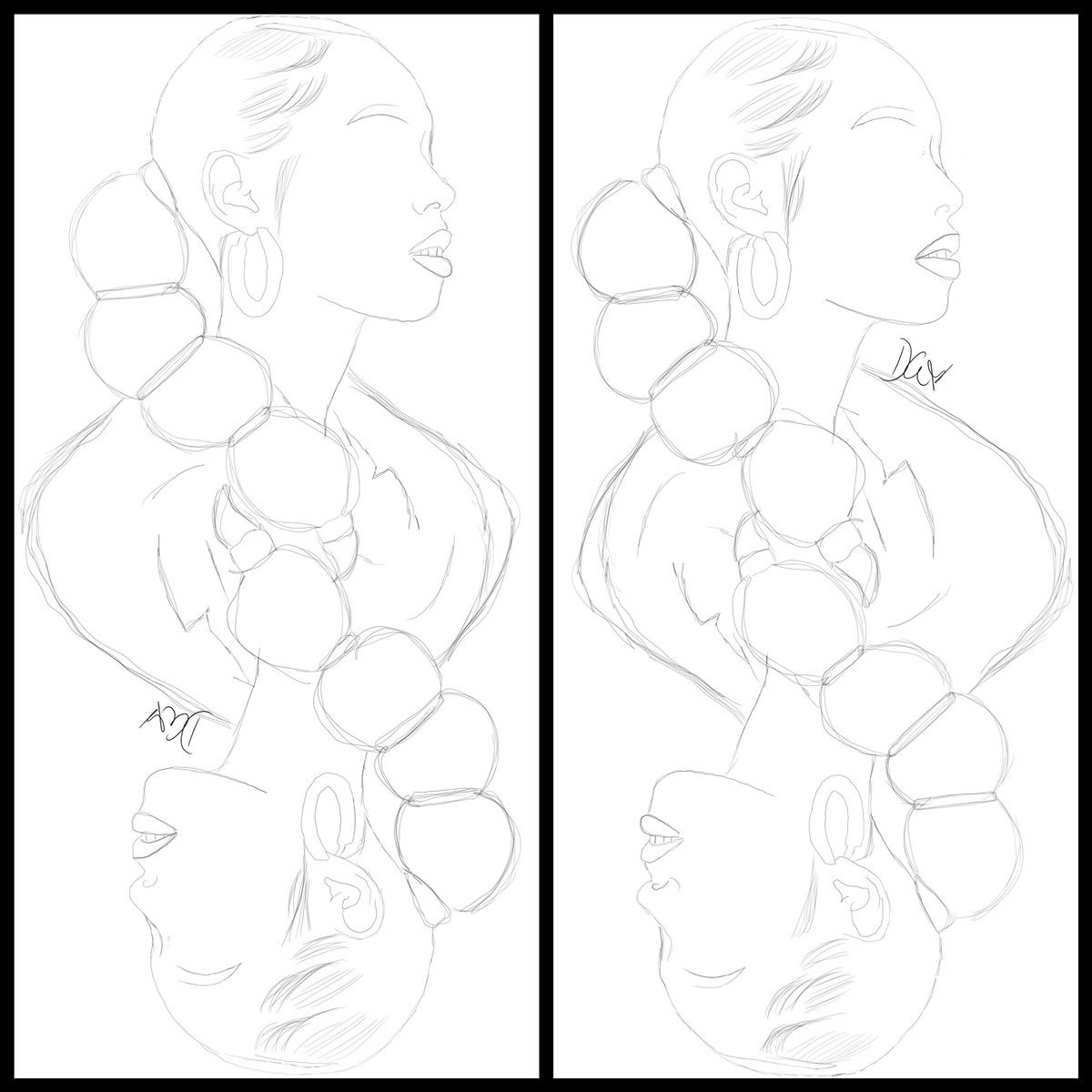 Rough sketches.   Trying to see if I can make magic happen.    #sketches #asketchaday #art #create #digitalart https://t.co/n5hUTYv8L4