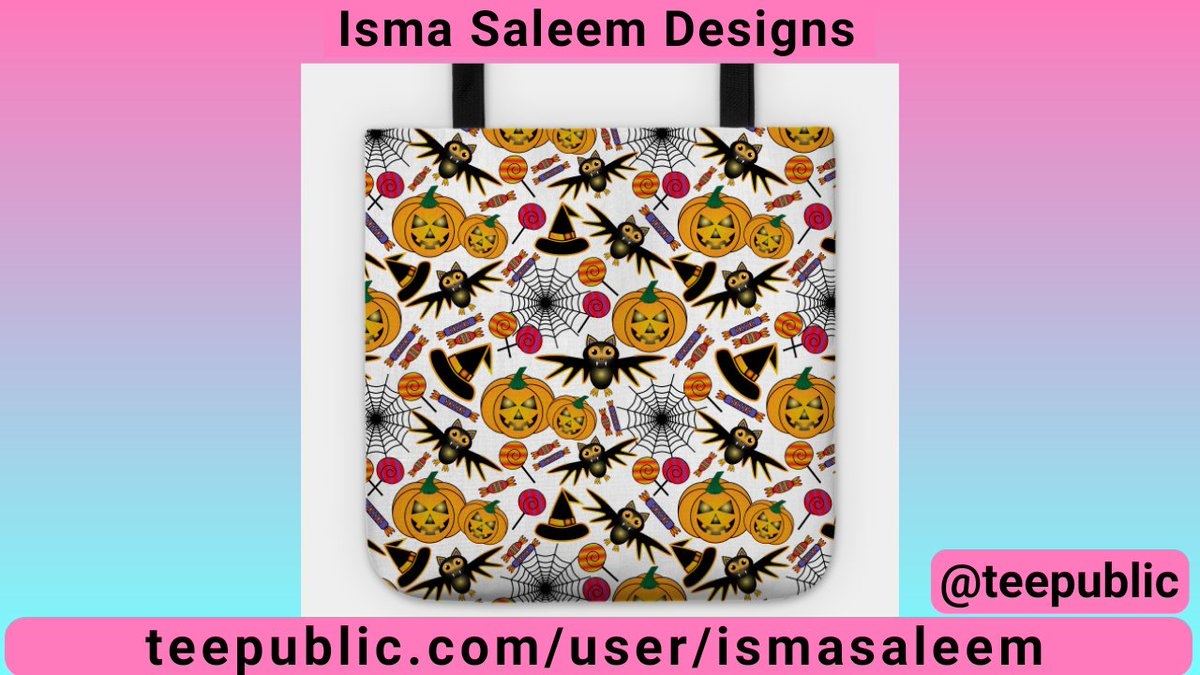 Tote bag with Halloween Seamless Pattern in White design by Isma Saleem @TeePublic #teepublic #tote #totebag #art #bag #shoppingbag #grocerybag #Halloween #instagood #shopping #shoppingonline #accessories #musthave #printondemand  https://t.co/pZ1zZwozpb https://t.co/N0kzRmrrY6