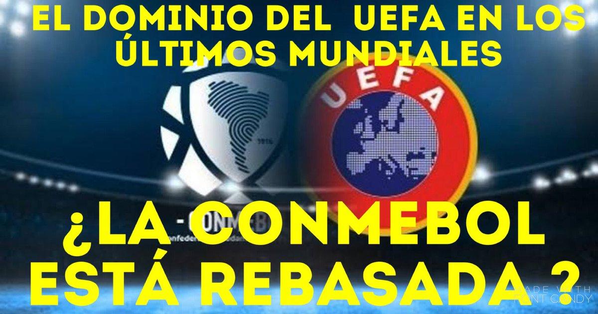 Por qué las selecciones de la UEFA han dominado los campeonatos mundiales, la Conmebol está rebasada, ve a ver mi análisis, aquí te dejo mi link https://t.co/sBGurkWe2e #UEFA #CONMEBOL #Deportes #Qatar2022 https://t.co/3OhAruafMU