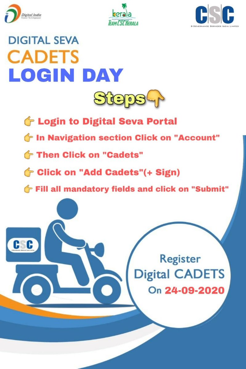 Every CSC need to complete the digital cadet registration https://t.co/aAYtYMZcQh