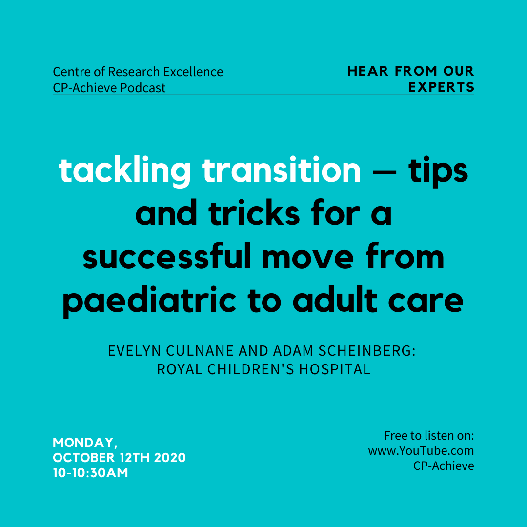Join us on Monday, October 12th! https://t.co/oR8Jw8RAgJ  #transition #lifestyle #cerebralpalsy #knowledgetranslation #datalinkage #Adolescents #Youngadults #CRE #PhD #healtheconomics #consumer #rch #mcri #alliedhealth #NHMRC #healthservices #physicalhealth #mentalhealth https://t.co/j6wdXEFWBU