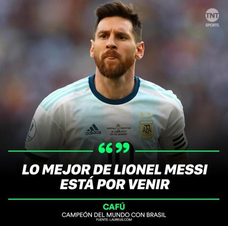 "Cafu: ""The best of Messi is yet to come"" #Messi https://t.co/LjXse9OtLr"