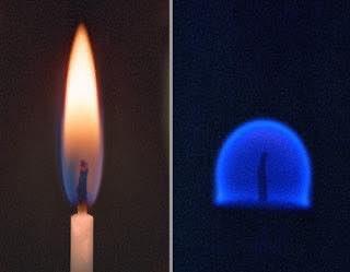 En el espacio, el fuego toma forma de esfera, pues la gravedad no empuja gases más densos y más fríos a la base de las llamas. Los objetos inflamables también se queman a temperaturas más bajas en microgravedad. https://t.co/6zWdaJz5gB