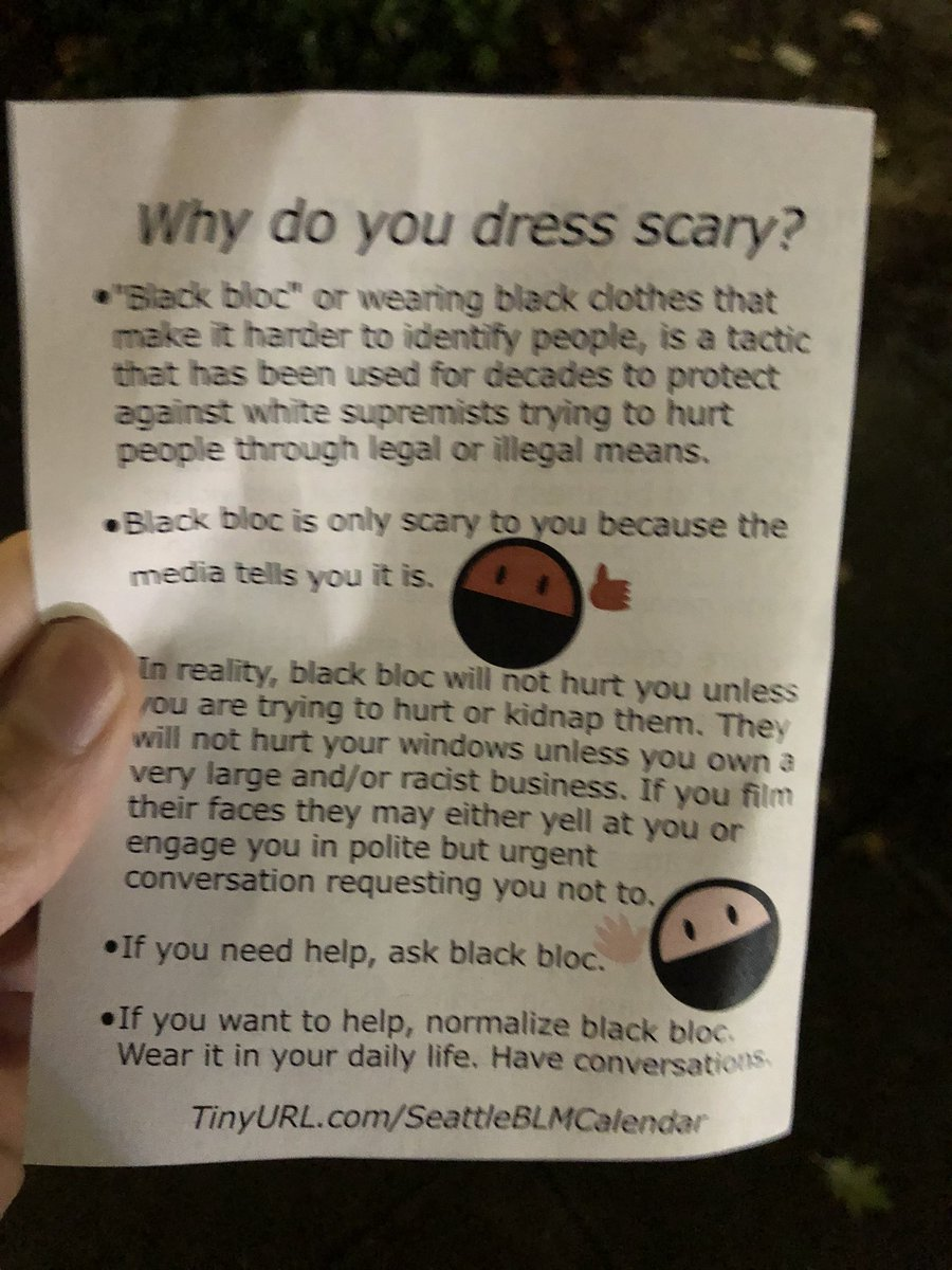 Protesters have been handing out these flyers to employees of businesses. The PSA includes a calendar link. https://t.co/ywCHK7TRxN