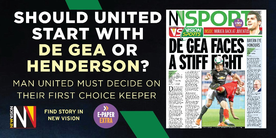 ⚽  NUMBER ONE QUESTION  Should #ManUtd start with De Gea or Henderson in goal? 🤷🏽‍♂️  🗞️  Story in today's edition 👉🏽 https://t.co/pxiru883T1 | #VisionSports https://t.co/QmLkF1spCo
