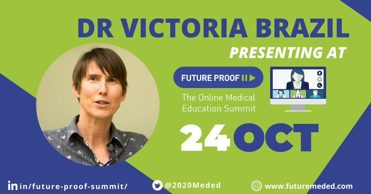 Thrilled to announce Dr Victoria Brazil @SocraticEM as keynote speaker at the Future Proof Summit. Presenting 'Safe, not soft' – hitting the sweet spot for simulation-based education. Dont miss out! futuremeded.com/registration/ #futurePROOF #MedTwitter #Medstudent
