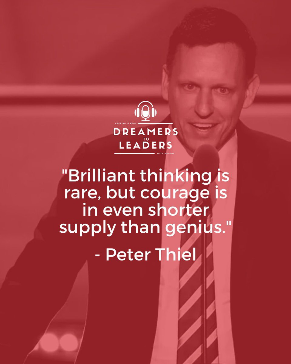 Courage is looking life's challenges in the eye and overcoming them rather than backing out from them.🏆 Tag a friend who never backs down from winning!🙌 . . #peterthiel #dreamerstoleaders #success #financialfreedom #leadership #motivation #goals https://t.co/bq1hpxZ43c
