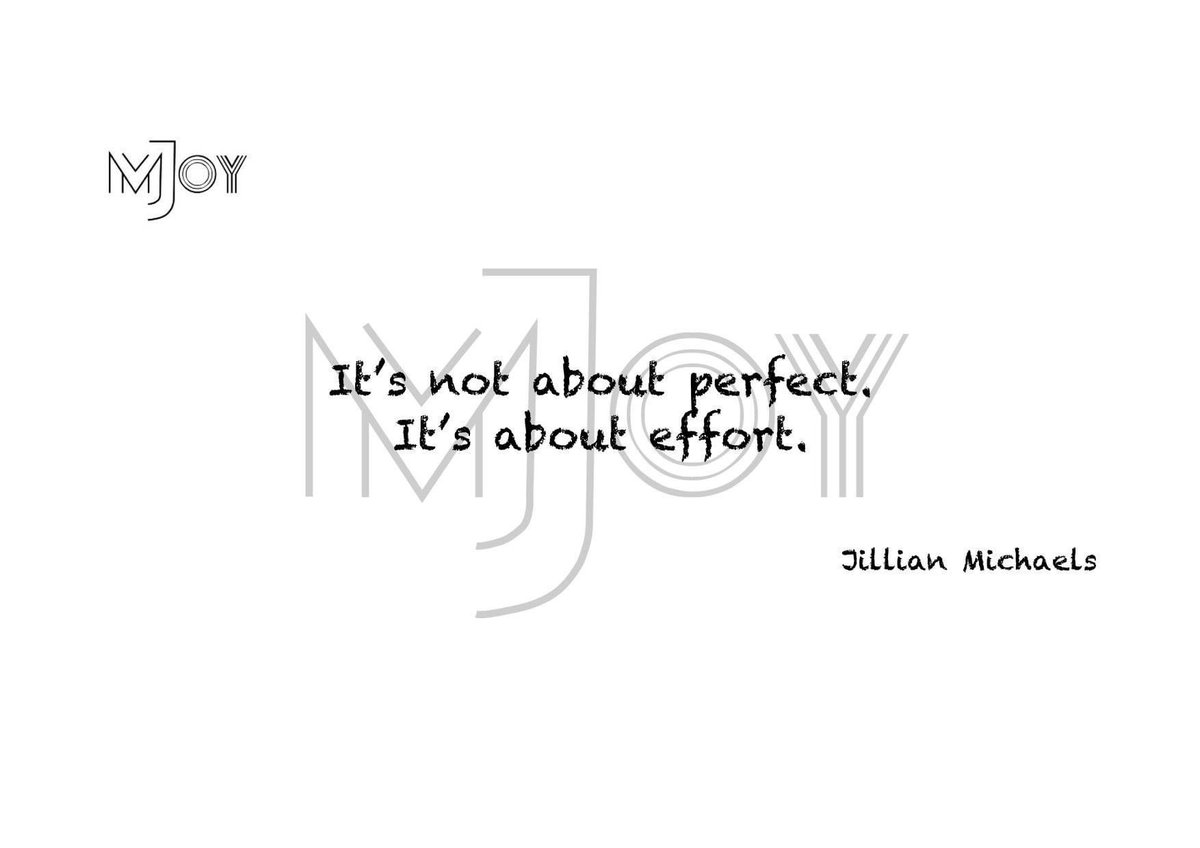 😍👉It's not about perfect.👈😍 😍🤜It's about effort.🤛😍 #JullianMichaels #effort #perfect #perfection #motivated #motivation #motivation_joy_ #motivational #motivationalquotes #motivationjoy #morningmotivation #morning #dailymotivation #dailyquotes #quotes #lifehack #goup #up https://t.co/eMGfHdrFik