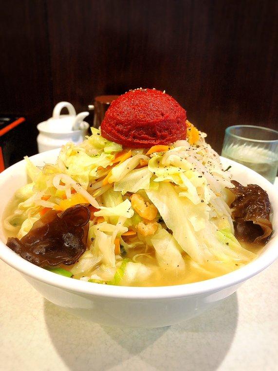 麺処 まるよし商店@桜台 チリトマト玉たんめん  #tabelog