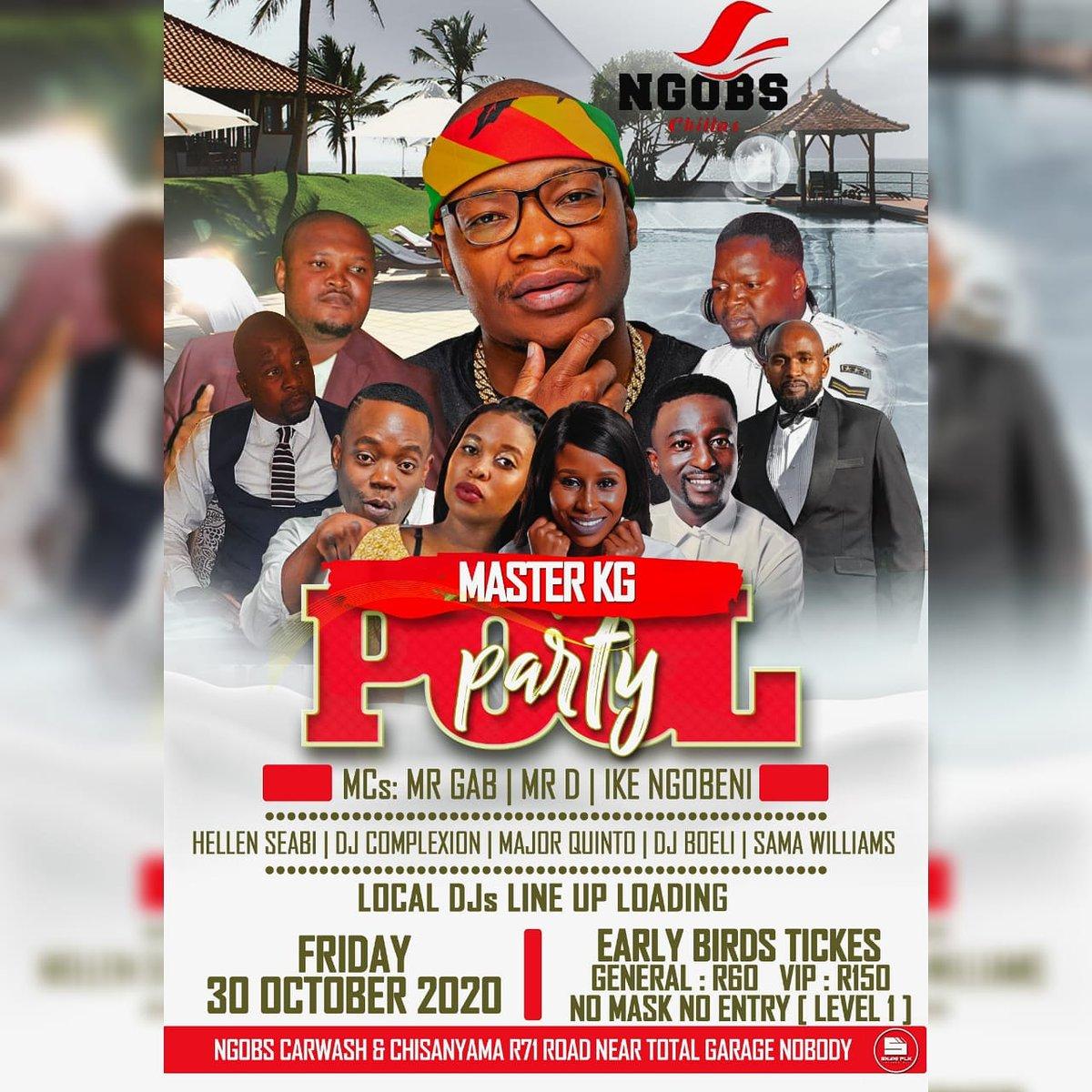 NGOBS CARWASH & CHISANYAMA  brings you @MasterKGsa Live supported Dj Boeli & more Date: Fri 30 Oct 2020... DJ BOELI Booking Details:  📧: djboeli@yahoo.com  ☎️: 081 306 9279 (Calls/WhatsApp) Facebook: Dj Boeli Fans Page Instagram: @DjBoeli Twitter: @DjBoeli https://t.co/Y7oW5b6BfJ