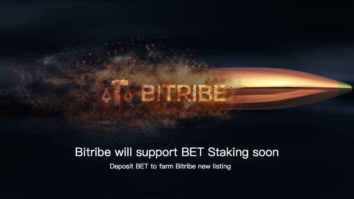 #Bitribe will list BET and support #BET Staking soon  Deposit BET to participate yield farming on https://t.co/fB1qFVEhwo  😍Please stay tuned  Get BET here: https://t.co/aOB6lUGiFU  @bestswap_com #defi #Mining #ETH #bestswap https://t.co/0ds1q9UiNP