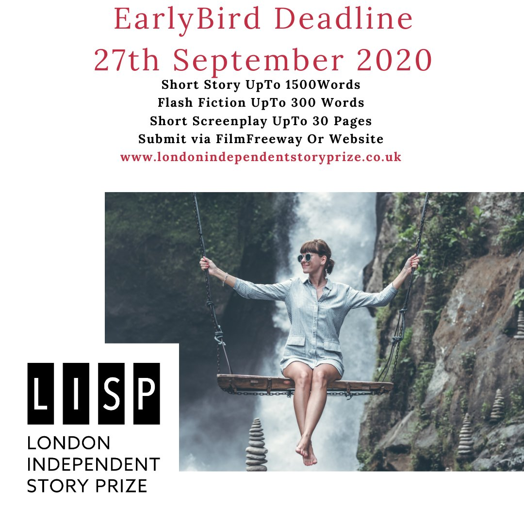 EarlyBird #DeadlineDay  27th September 2020  LISP 4th Quarter is open for #Submissions   Submit via website or  @FilmFreeway   #filmmaker #writerslift  #amwriting #author #scriptwriting #novelist #writerscommunity #shortstory #flashfiction #screenplay https://t.co/1NLzLNfQRO