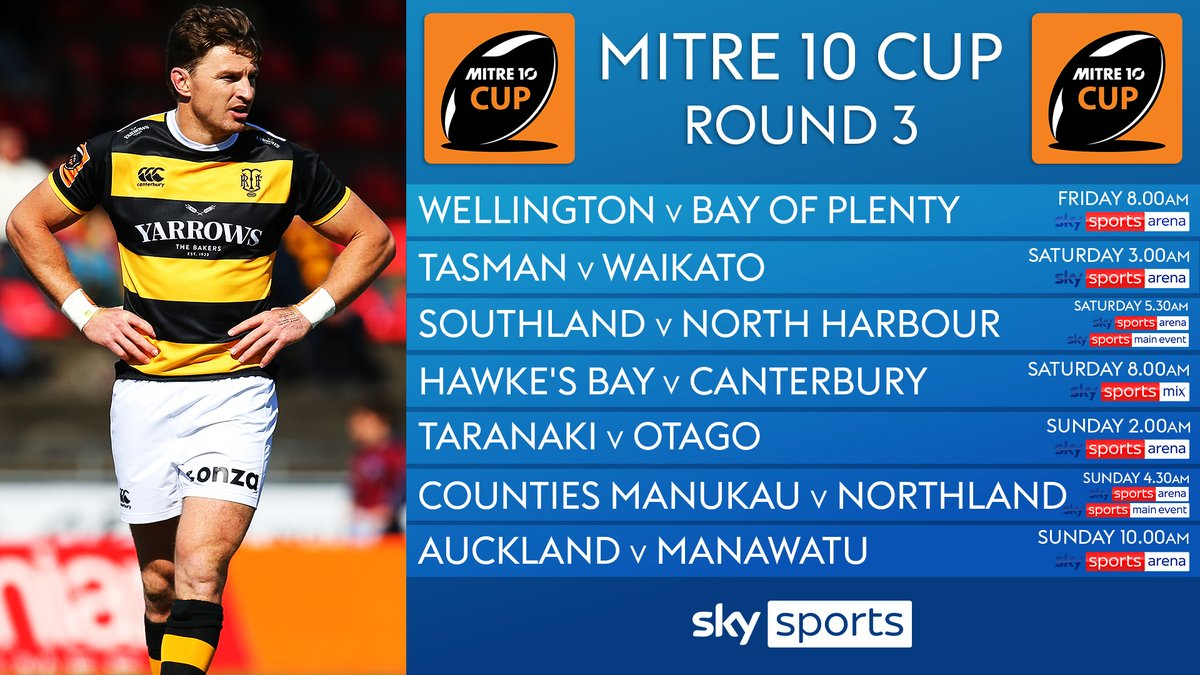 test Twitter Media - 🇳🇿 The Mitre 10 Cup is into round 3⃣  It gets underway tomorrow morning as Wellington host Bay of Plenty at 8am ⏰  👇 Fixtures 👇 https://t.co/fq5le1BIm3