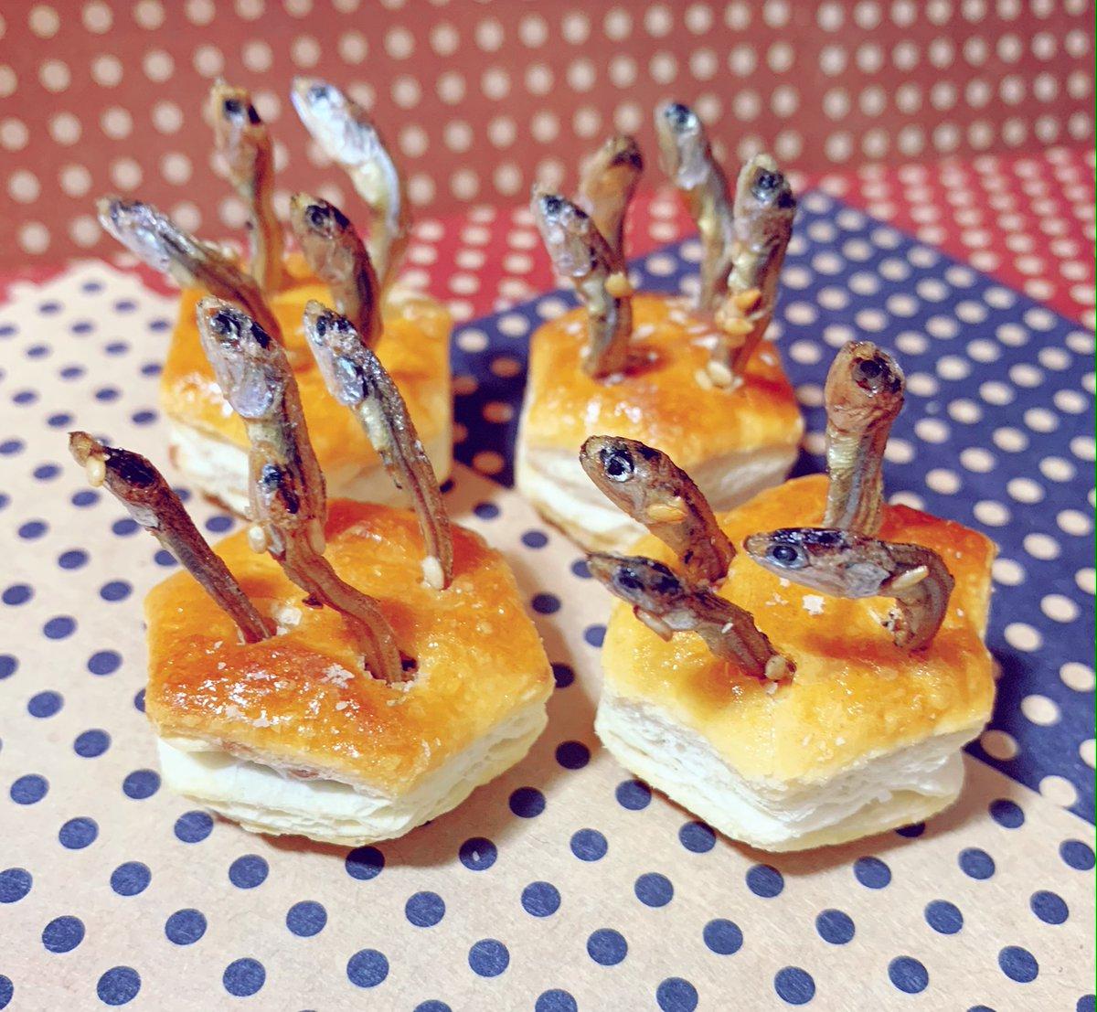 🇬🇧人に「みて!みて!スターゲイザーパイっ!」と、とっても素敵な笑顔で渡されたパイの実の成れの果てです( ˘ω˘ )