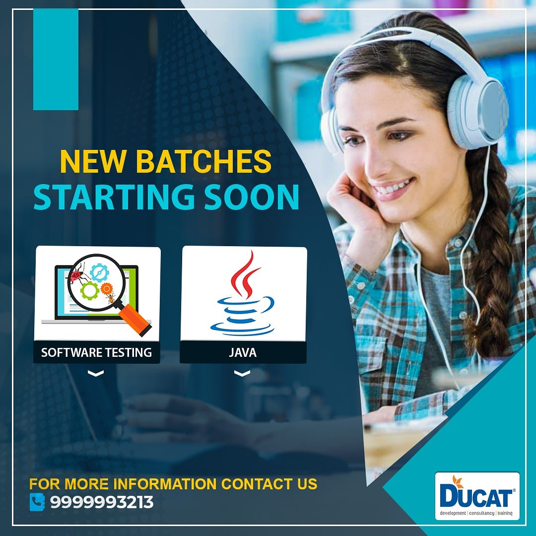 Are you Looking for Online Training Program? ✔✔Join Our New Online Batches Starting Soon on JAVA , Software Testing & boost up your skills.  🏷️ Contact Us: . ☎ +91 - 9999993213 Or Mail Us at:- info@ducatindia.com . #newbatches #selenium #java #seleniumtesting #Ducat https://t.co/7B3YsY2Xuk