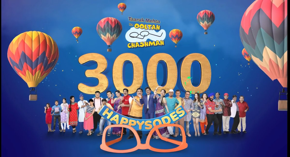 @TMKOC_NTF Its been years watching this show, This show always help me when I feel low. Thank u so much to the entire Cast of #TMKOC for making my childhood and current stage awesome. I never enjoyed any show more than this... Congratulations for #TMKOC3000  @AsitKumarrModi https://t.co/ZhLRdlD2cZ