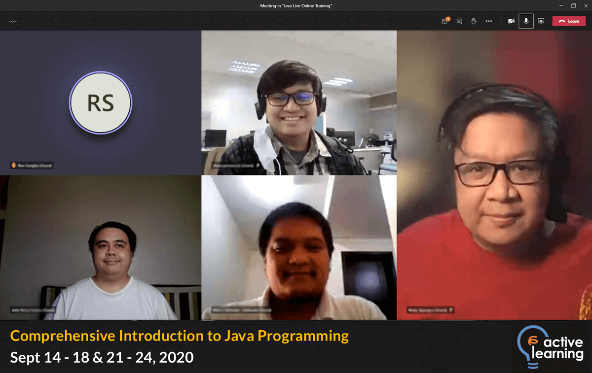 Just finished our first Comprehensive Introduction to Java Programming Live Online training! Join us on Nov 9 - 13, 2020 for the next run. For more info, click here https://t.co/Yln2RdNm12. #UpgradeYourself #java https://t.co/M0a84cDEWh