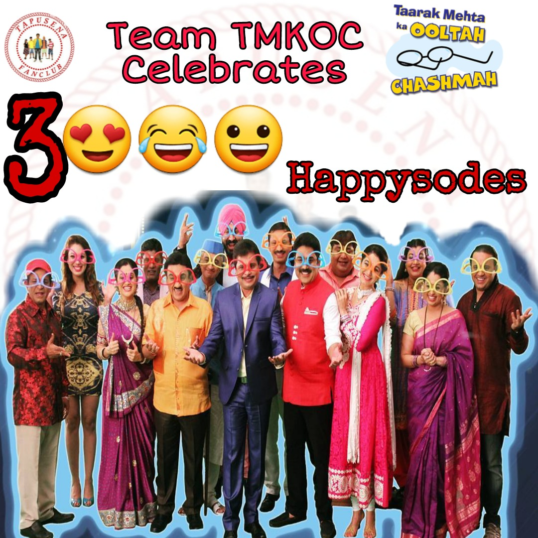 Mubarakan... Congratulations... Badhaai Ho!  Our Favourite show TMKOC has reached yet another milestone of 3K episodes!! We heartily Congratulate Shri Asit Kumarr Modi Sir & entire team for bringing such a amazing concept like @tmkoc_ntf  #TMKOC3000 #TSFC #TMKOC #TSFCfanclub https://t.co/RkdSwYIWOS