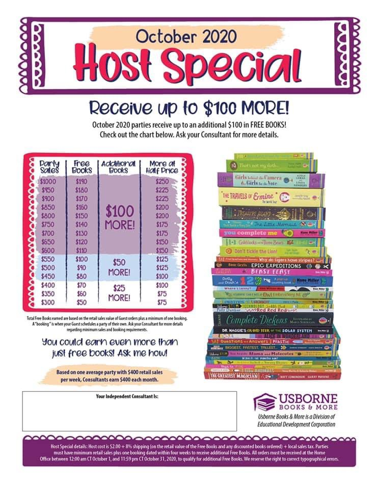 Who wants to host an online Usborne book party with me in October to earn FREE books?? It's a great way to save money on Christmas gifts! Just invite your friends and I do the rest. DM me if interested 📚🎉 #savingmoney #amreading #books #kids https://t.co/bOLUbOyKUD
