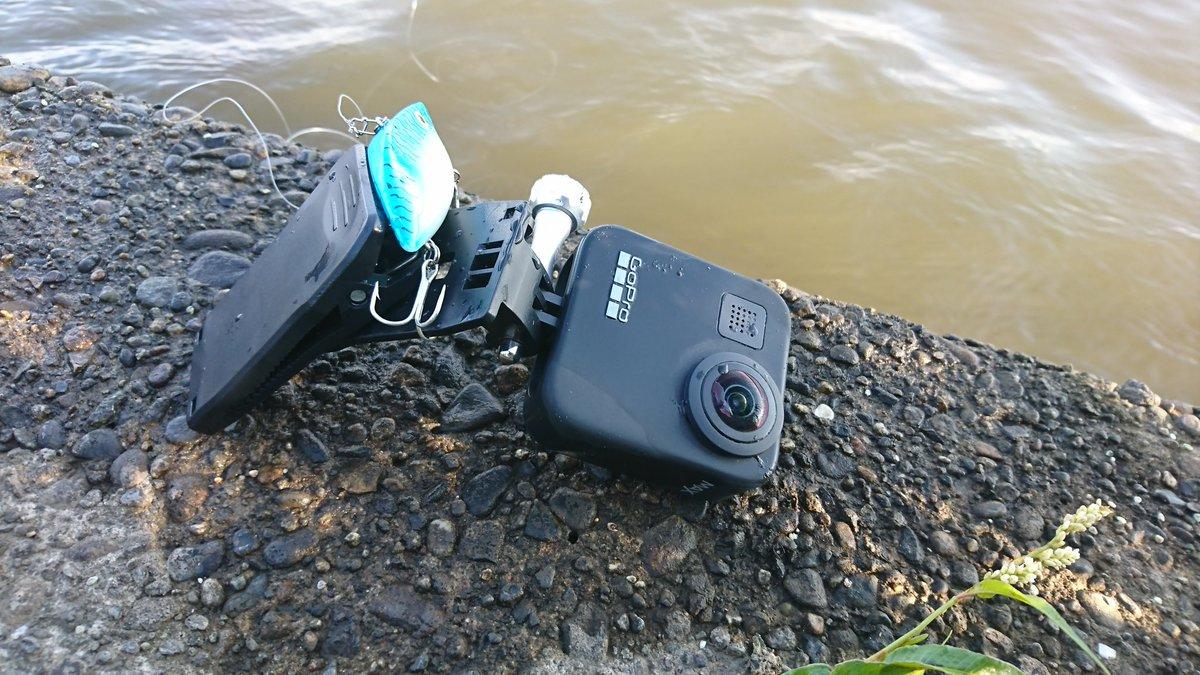 GoProMAX、落水。 釣り上げることに成功したけど、バッテリーカバーがオープン状態だったのでご臨終。  #gopromax  #gopro #落水 #水没 #霞ヶ浦 #釣り好き #バスフィッシング #スーパースポット https://t.co/BVW8kUZeLd