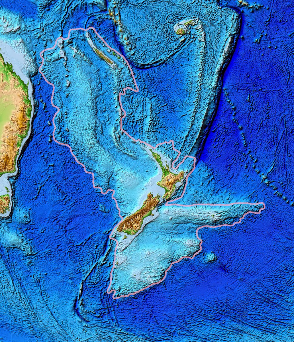 This is Zealandia - more than half the size of the Australian continent. Source: en.m.wikipedia.org/wiki/Zealandia