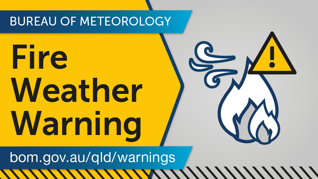⚠️ #Fire Weather Warning issued for Severe fire danger forecast for #DarlingDowns & #GraniteBelt, #Maranoa & #Warrego districts on FRIDAY. Check https://t.co/yXiT2NVUsZ for details and updates; stay tuned to @QldFES for fire bans and further #bushfire info. https://t.co/shtcTkCpaZ