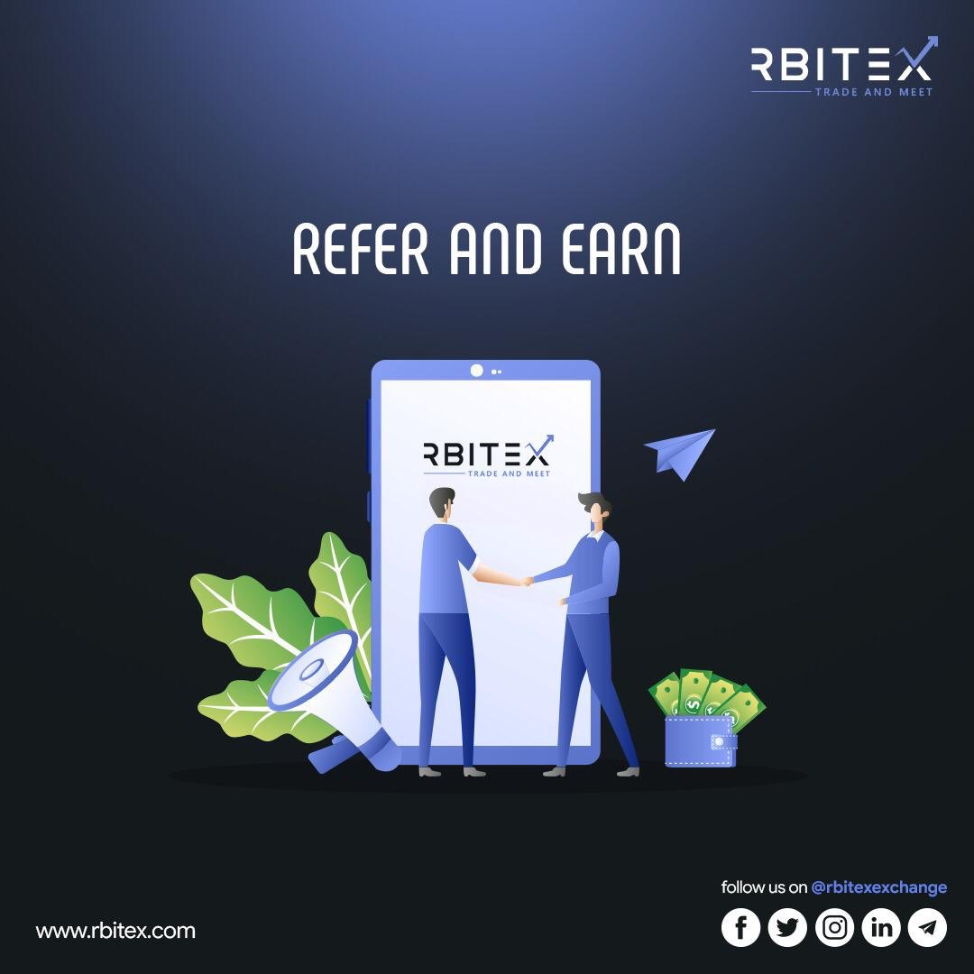 REFER AND EARN Refer your friends to earn 25 rBitx more. What are you waiting for? Come fly with us. #rbitex #comeflywithus #Bitcoin #crypto #Trading #Cryptocurrency #Bitcoinmining #Blockchain #Btc #Ethereum #Eth #Forex #Forextrader #Forextrading #Money #cryptonews #cryptoworld https://t.co/VHELBFbWcn