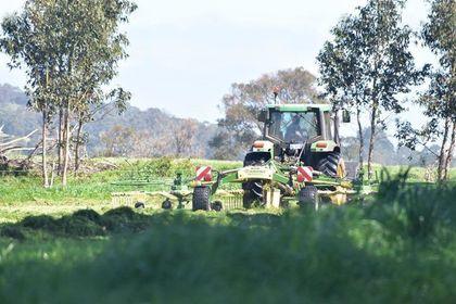 Paddocks are being cut for silage, Two Peoples Bay, WA. 🚜 📷 credit: @irongatewagyu   #GBA #grainbrokersaustralia #agriculture #thankafarmer #weareausfarmers #farming #livestock #generationag #agaustralia #wagyu #twopeoplesbay #wa #irongatewagyu #irongate #paddocks #silage https://t.co/YbNuWJba1n