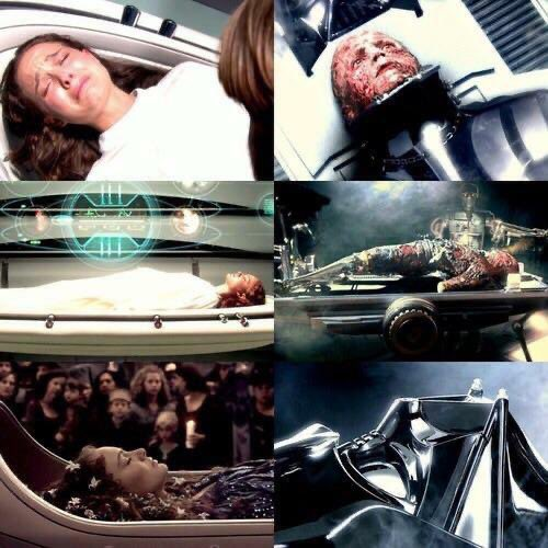"""In 'Revenge of the Sith' (2005), the death of Padmé parallels the """"death"""" of Anakin Skywalker https://t.co/Jvtj56645y"""