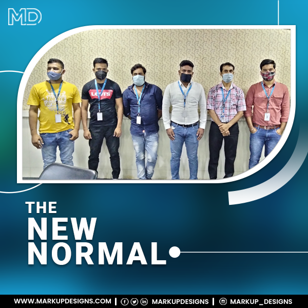 COVID-19 pandemic has changed and will continue to change, the world and the way we work.  This is how we are Coping with the New Normal at Work!!  #TheNewNormal #workplace #workplacesafety  #safetywithmask #Covid_19 #MarkupDesigns https://t.co/bB1KpGlBxk