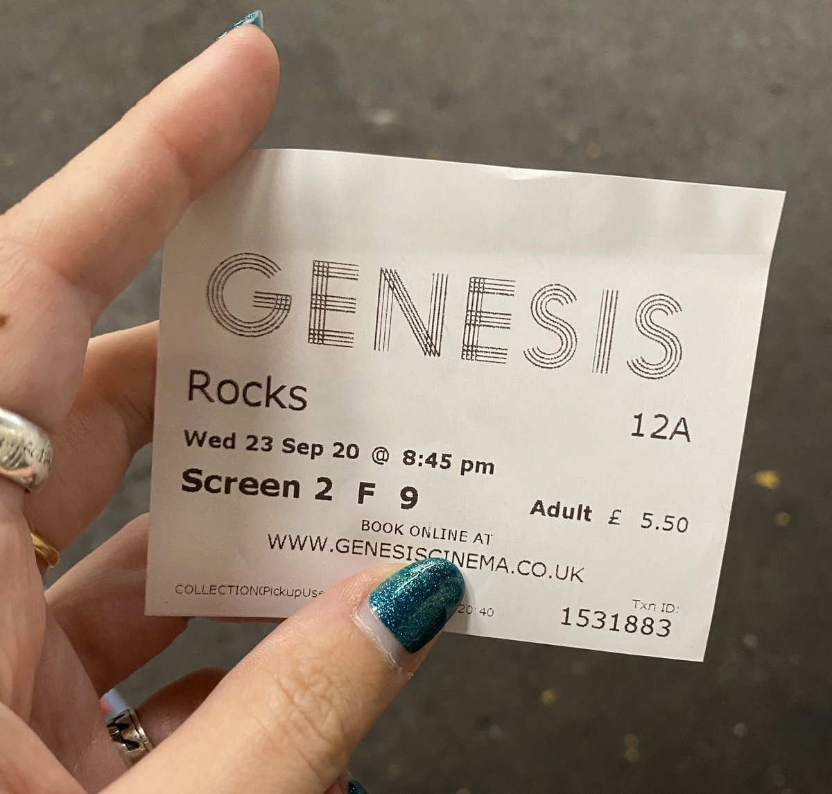 Saw @RocksTheFilm last night at @GenesisCinema and it was so brilliantly beautiful. Cried a lot, laughed a lot and will be thinking about it for a long time 💙