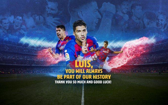 🔴 ADÉU, LUIS SUÁREZ  📻 Segueix en directe el comiat de Luis Suárez a partir de les 12.30 a l'#ApocalipsiCatRadio amb @elisendacarod i @rsalmurri  👀  https://t.co/ZPpNM2mh7c https://t.co/AsZkUGqEIt
