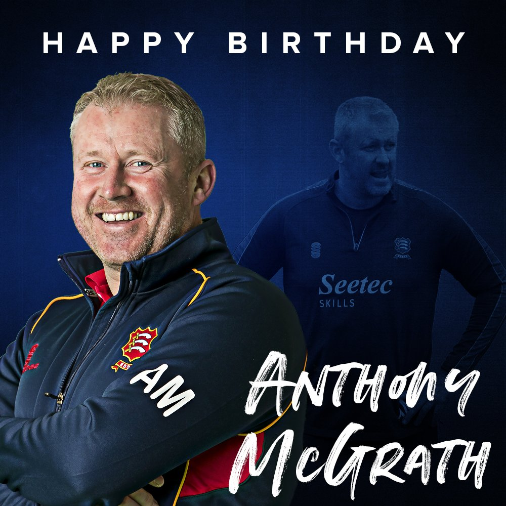 🎂 Happy Birthday to Essex Head Coach Anthony McGrath, who turns 4⃣5⃣ today 🙌 We hope you have a great day Mags 🥳