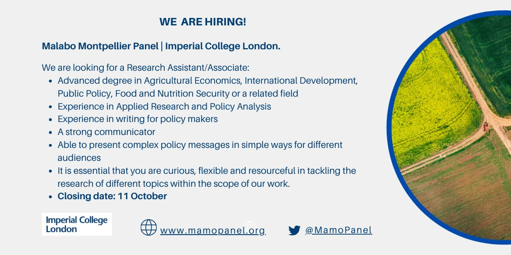 test Twitter Media - #WeAreHiring  Have you a background in #AgricultureEconomics, #InternationalDevelopment studies, #PublicPolicy, food and nutrition security, or a related field? If so, @MaMoPanel's job announcement via @devex is for you: https://t.co/7musWnSwCP https://t.co/veh0L5LgoL