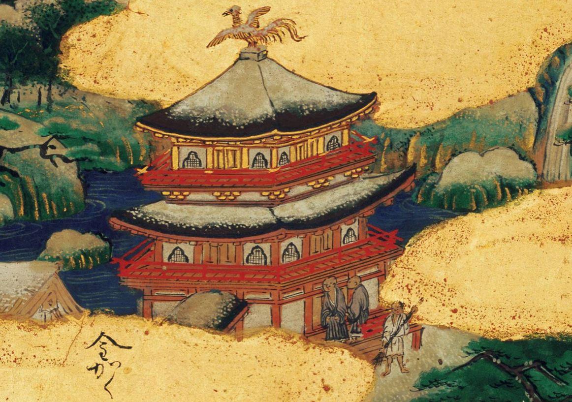 洛中洛外図屏風(上杉本) Folding Screens of Scenes In and Around Kyoto (Uesugi Version)  狩野永徳 Kano Eitoku  安土桃山時代 16世紀  金閣寺  #屏風 #日本美術 #狩野永徳 #洛中洛外図 #安土桃山時代 #金閣寺 #art #Japaneseart #byobu #foldingscreens #kanoschool https://t.co/hCc9pd5TN9