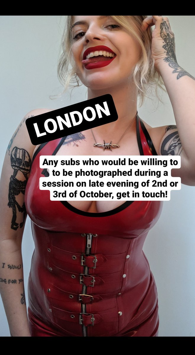 #LONDON - any subs who would be willing to be photographed in session with Me on late eve 2nd or 3rd, get in touch - missmarilynx@gmail.com https://t.co/IzPAejVgIs