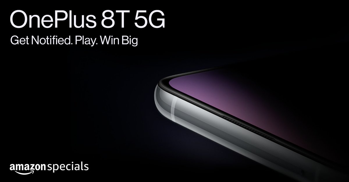 Winning the all-new #OnePlus8T5G  is as simple as:  🔔Clicking on Notify Me   ❓Participating in the quiz (and getting all the answers right!)   Head here to participate - https://t.co/r10hXhRDDh https://t.co/wYYZQIoSLE