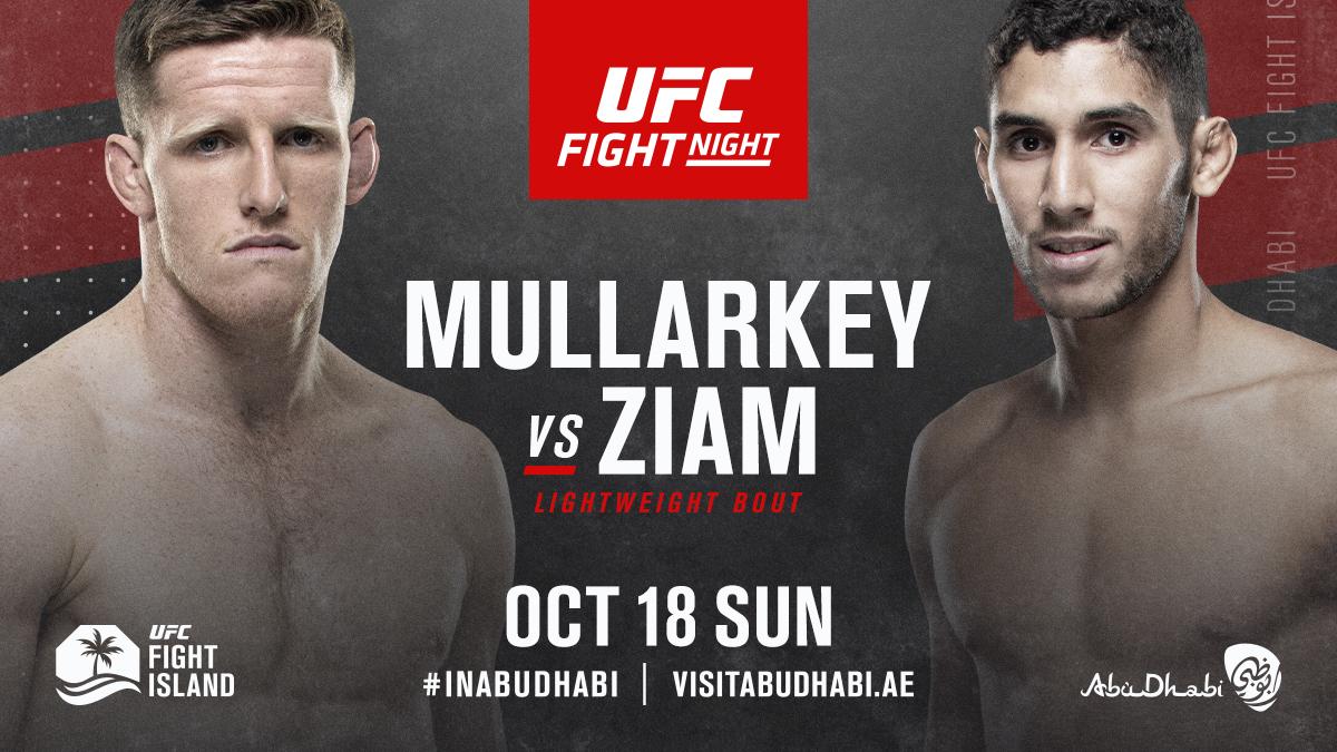 Welcome back @jamie_mullarkey! 🇦🇺  He meets Ziam on October 18th on #UFCFightIsland  #InAbuDhabi   @VisitAbuDhabi https://t.co/NU2rh7aQwM